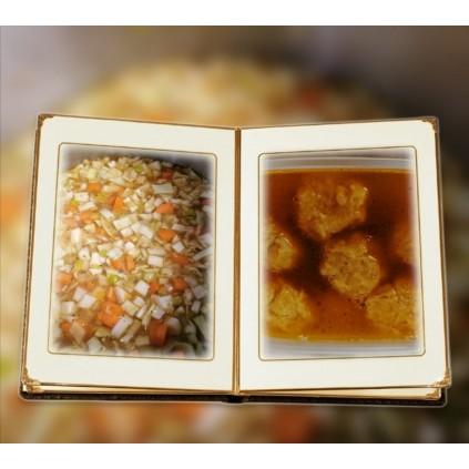Grønnsaksuppe med melboller