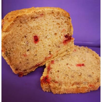 Glutenfritt flerkornsbrød med tyttebær