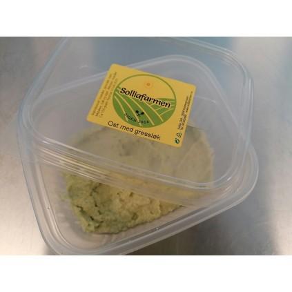 Melkefri ost m/ fersk gressløk